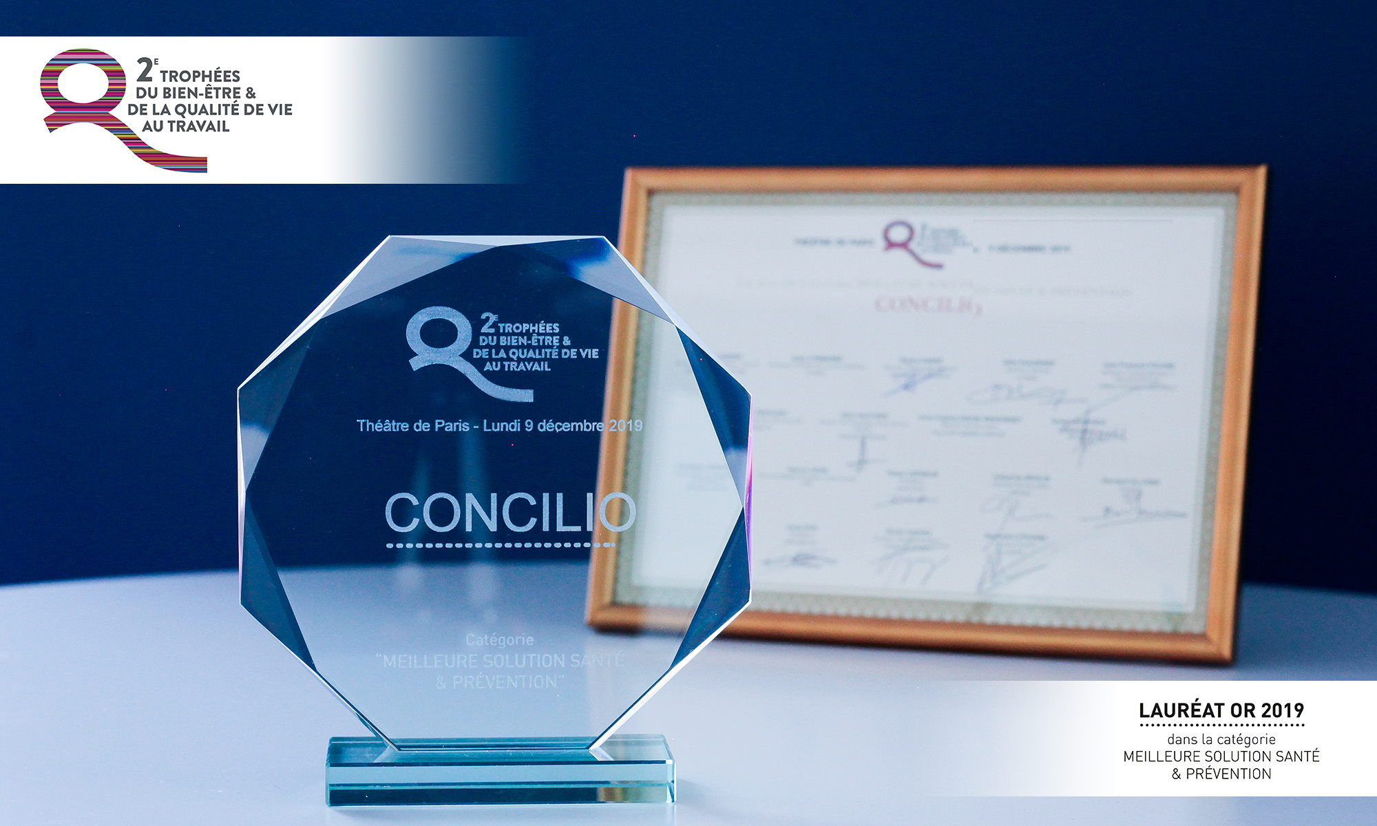 Concilio remporte la Médaille d'or catégorie meilleure solution santé et prévention aux Trophées Bien-être et QVT