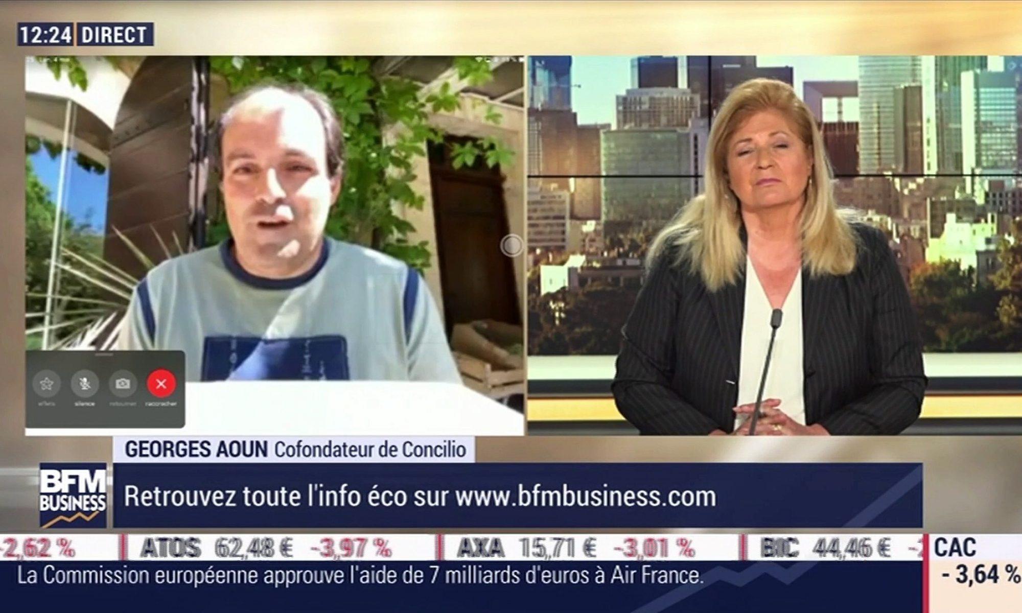 Georges Aoun en interview sur BFM Business : Covid-19 et impact de la santé sur l'actif des entreprises...