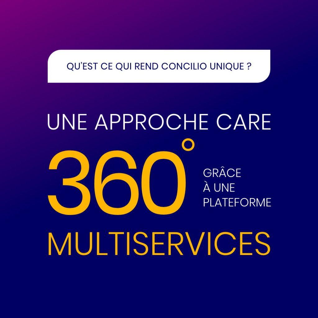 Une approche Care 360° grâce à une plateforme multiservices
