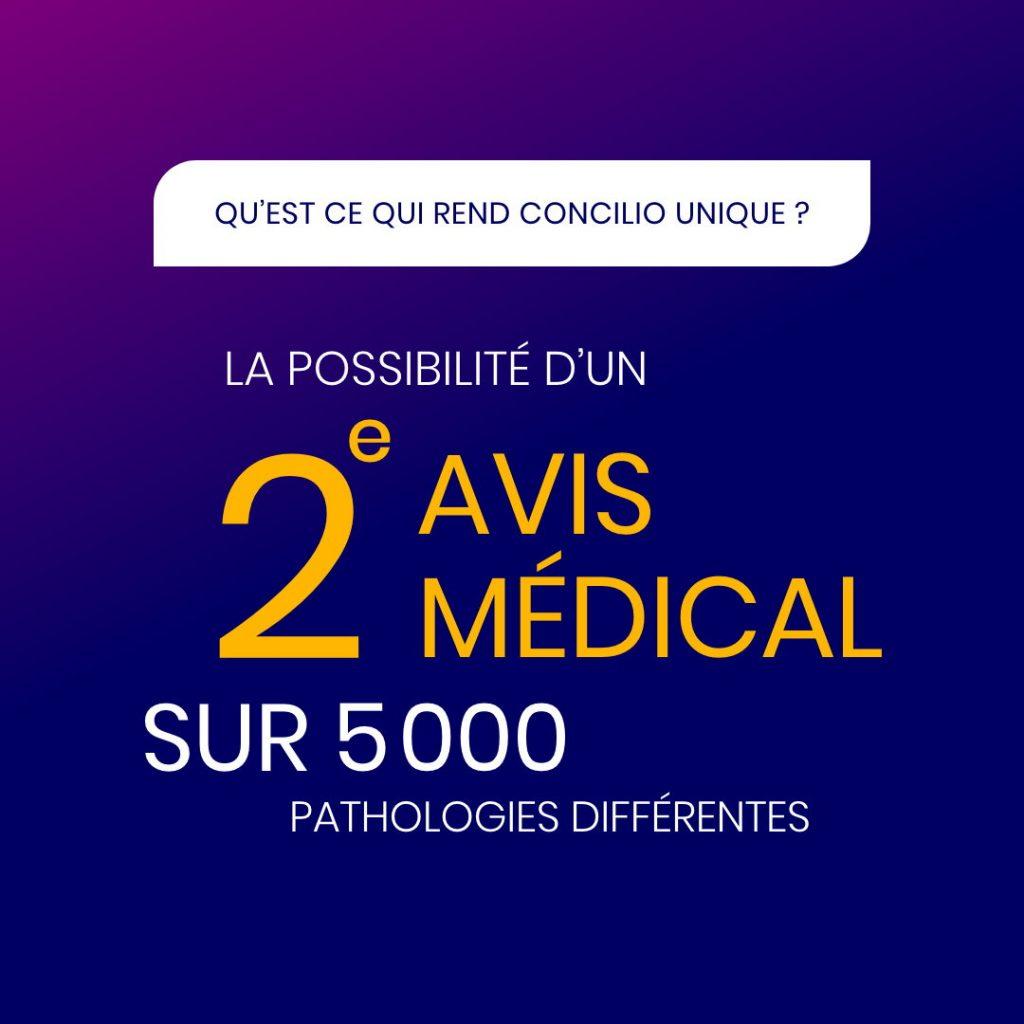 La possibilité d'un 2ème avis médical sur 5000 pathologies différentes
