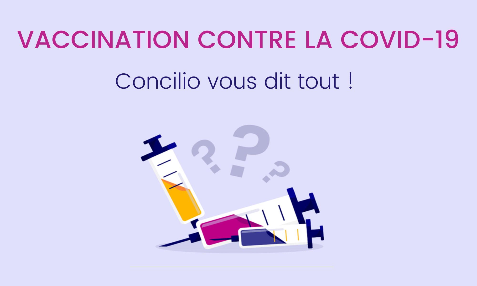 Vaccination contre la Covid 19 toutes les réponses à vos questions - Concilio